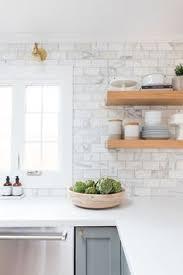 Herringbone Marble Backsplash by Marble Herringbone Backsplash Kitchen Floating Shelves Nina