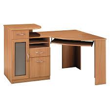 Cheap Computer Corner Desk Rustic Unfinished Oak Wood Writing Desks Furniture Likable