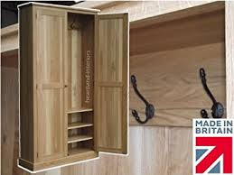 100 solid oak cloakroom storage cupboard 200 cm tall handcrafted