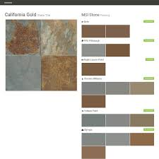 california gold slate tile flooring msi stone behr ppg
