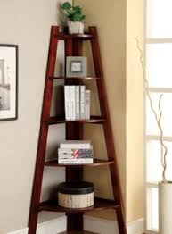 Lyss 5 Tier Corner Ladder by Danya B White 5 Tier Corner Ladder Display Bookshelf Decorative