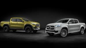 mercedes 6 wheel pickup mercedes benz unveils two versions of 2017 x class pickup concept