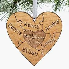 personalized puzzle wood ornament together we make a