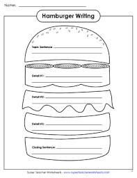 fillable online hamburger writing organizer super teacher
