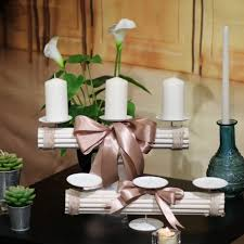 porta candele gruppo soria portacandele in legno 3 posti
