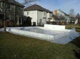 Backyard Ice Rink Plans by Backyard Ice Rinks Liner Method