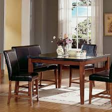 Black Square Dining Room Table Furniture Square Black Granite Dining Table On Grey Rug Connected
