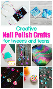 colorful and creative nail polish crafts for kids nail polish