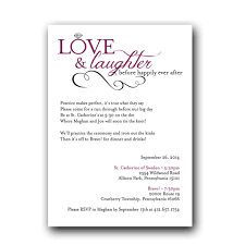 laughter rehearsal dinner invitation dot and bow