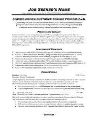 Skills Summary Resume Sample Resume Examples For Customer Service Position Summary
