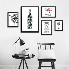 black and white prints for kitchen abstract kitchen for wine minimalist cafe wall canvas prints black white wine for modern kitchen restaurant home decor