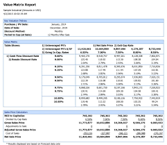 financial analysis sample report why argus dcf is used by this commercial real estate broker sample industrial argus value matrix report