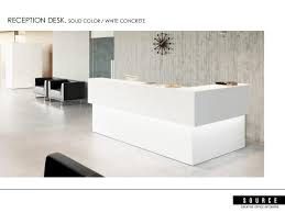 Concrete Reception Desk Source Creative Presentation