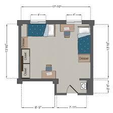 Railroad Style Apartment Floor Plan Fusz Hall Slu