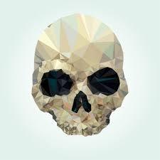 skull design made of polygons vector free