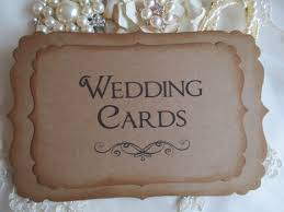 sign a wedding card wedding cards sign vintage style kraft brown