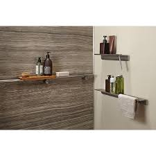 Lowes Wall Shelves by Love Kohler 300 Lbs Of Support Choreograph Anodized Brushed