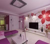 Curtain Wall Color Combination Ideas Purple Decor For Living Room Bedroom Walls Small White Ideas