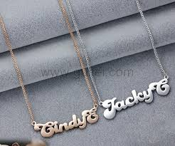 Name Pendant Necklace Cute My Name Silver Pendant Necklace Men And Women Gift