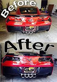 tail light smoke kit amazon com c7 stingray corvette rear tail light blackout lens kit