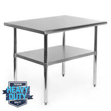 stainless steel prep table used stainless steel table ebay