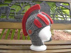 crochet pattern knight helmet free crocheted knight helmet with movable visor by melibusla crochet