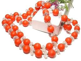 orange bead necklace images Everyone loves sweet vintage beads styles and styles of vintage jpg