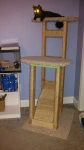 build your own cat tree plans homemade cat tree cattrees make