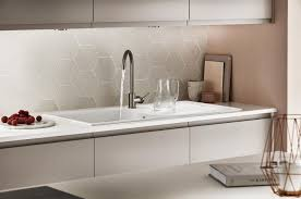 clean lines define the contemporary look in this modern kitchen