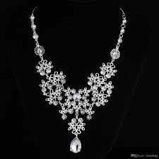 crystal rhinestone necklace images Luxury crystal rhinestone necklace jewelery accessories bridal jpg