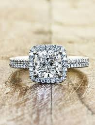 custom wedding rings caroline band halo diamond engagement ring ken
