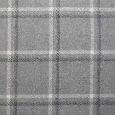 Grey Plaid Curtains Tartan Plaid Grey Wool Curtain And Upholstery Fabric Iona Pebble