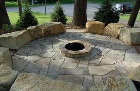 Flagstone Firepit Build Flagstone Firepit Furniture Decor Trend Beautiful