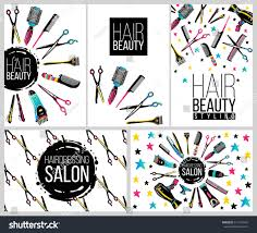 barber shop haircut beauty salons banners stock vector 511270447