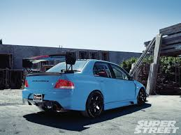 mitsubishi jdm 2005 mitsubishi lancer evolution viii bleeding blue photo