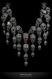 diamond halloween costume skulls cluster black diamond goth fashion necklace u2013 beloved sparkles