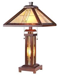 arts u0026 crafts earle stained glass table lamp maclin studio