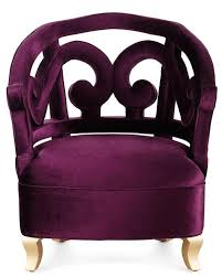 Plum Accent Chair Plum Velvet Accent Chair