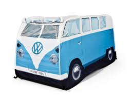 volkswagen blue vw campervan play tent coolstuff com