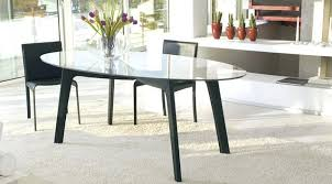 Black Oval Dining Room Table - oval dining table seats 12 black oval dining table and chairs