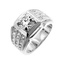 mens diamond engagement rings cut diamond cz vintage mens engagement ring 2ct this is the