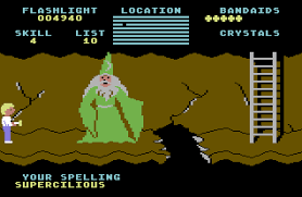 The Word Vanity Vgjunk Cave Of The Word Wizard Commodore 64