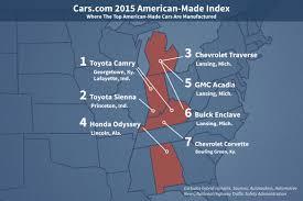 where is toyota made toyota tops the cars com 2015 made index 802cars com