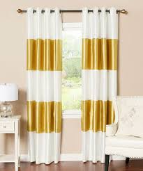 Gold And White Curtains Another Great Find On Zulily Gold Stripe Dupioni Blackout