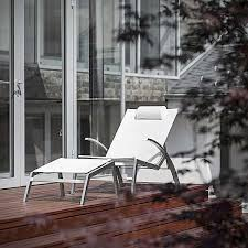 Armchair Position Lounge Armchair Alcedo Stainless Steel And Batyline Indoor And