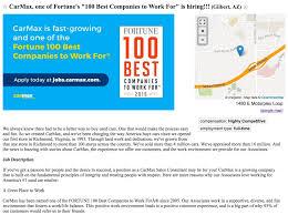 Choice Map Carmax U0027s Job Ad Pops With Employer Of Choice Award U0026 Map The