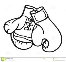 black clipart boxing glove pencil and in color black clipart