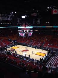 american airlines arena section 306 row 5 seat 1 miami heat
