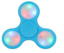 fidget spinner light up blue tri color led light up fidget spinner 3 flashing modes on off