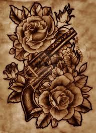 pretty with gun n rose tattoo design
